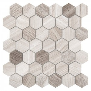 DUNIN Woodstone mozaika kamienna Woodstone Grey HEXAGON 48
