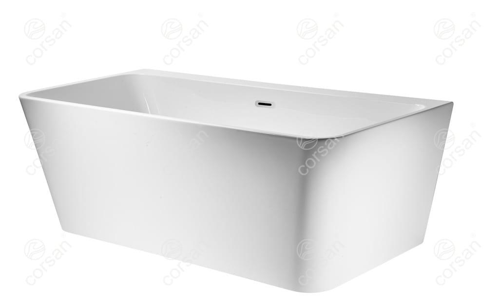 Corsan wanna przyścienna akrylowa ISEO 170x80x59 cm  E019  + syfon klik-klak/ biała