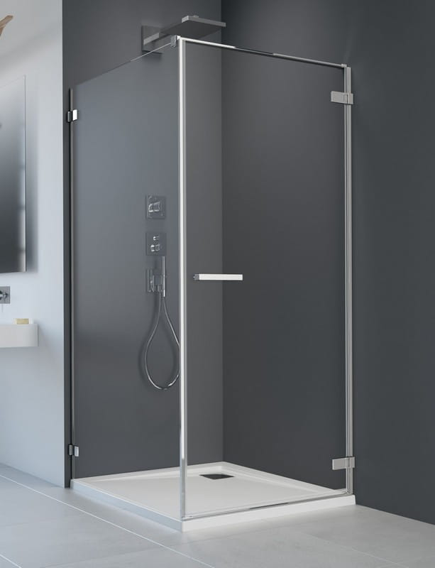 Kabina prysznicowa prostokątna Radaway Arta KDJ I drzwi 80 prawe x ścianka 90 szkło przejrzyste wys. 200 cm, 386081-03-01R /386021-03-01