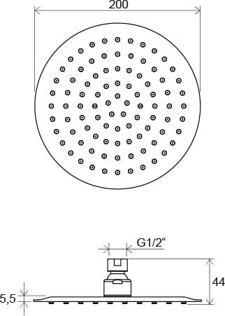 Ravak deszczownica Slim Chrome 984.01, okrągła  ø20cm  X07P335