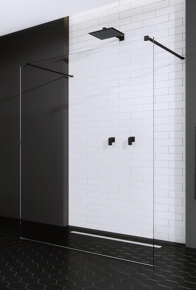 Kabina prysznicowa Walk-In Radaway Modo New Black I 140 cm, szkło przejrzyste, wys.200 cm 388144-54-01