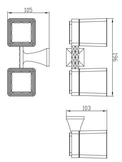Art Platino Panama uchwyt z dwoma szklankami chrom PAN-86052
