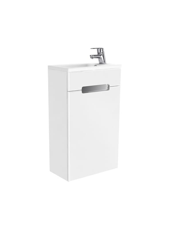 New Trendy Micra zestaw szafka z umywalką 40cm biały połysk lewy ML-MI040L