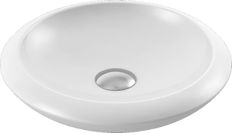 CeraStyle  umywalka More, owalna, Ø42 cm      075100-u