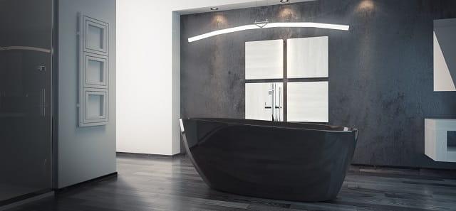 Besco wanna wolnostojąca Goya 160x70 cm czarna + syfon klik-klak