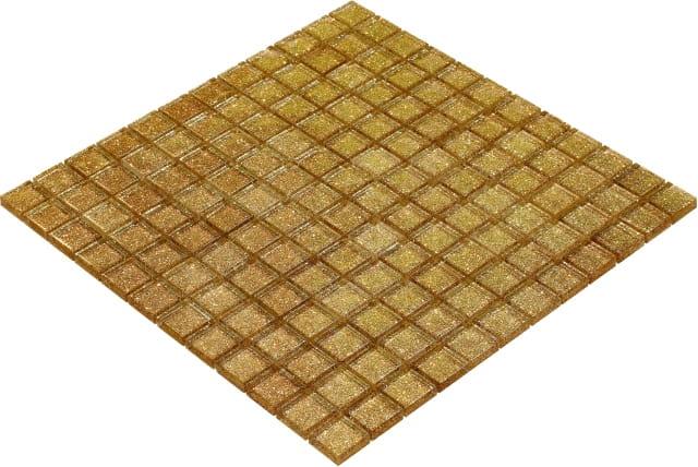 Goccia Color Line mozaika szklana złoto/miedź,  30x30 cm      CLS1605