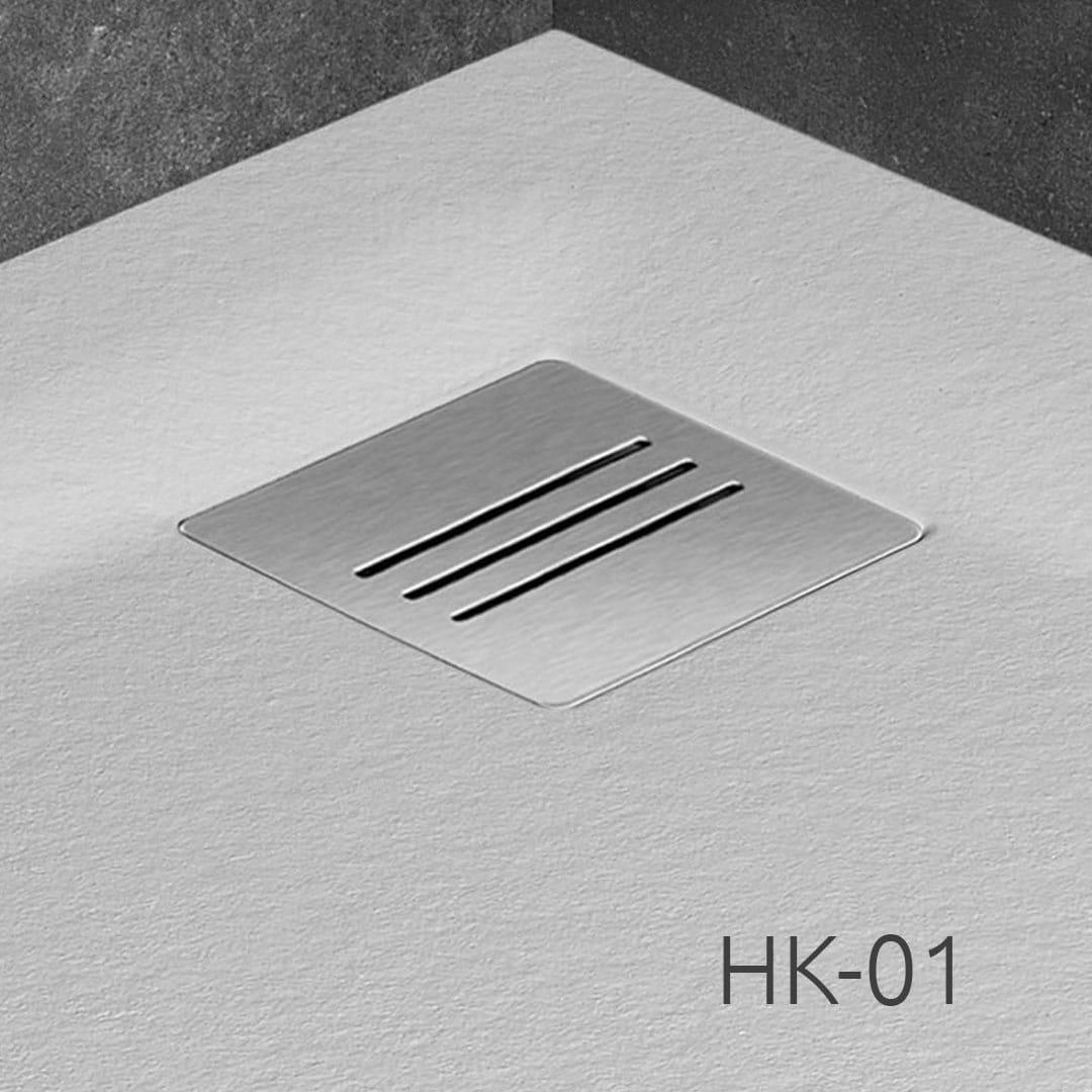 Radaway brodzik z konglomeratu Kyntos A biały 90x90 cm HKA9090-04