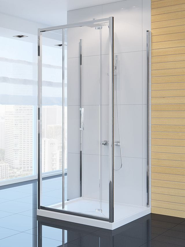 Kabina prysznicowa New Trendy Gold ALTA 80 x 90 x 90, wys. 195 cm, szkło czyste 6 mm K-0445