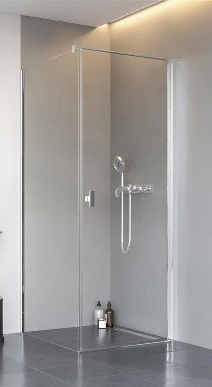 Kabina Radaway Nes KDJ I drzwi 80P x ścianka 80 szkło przejrzyste wys. 200 cm. 10022080-01-01R/10039080-01-01