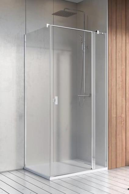 Kabina Radaway Nes KDJ II drzwi 80P x ścianka 80 szkło przejrzyste wys. 200 cm. 10032080-01-01R/10039080-01-01