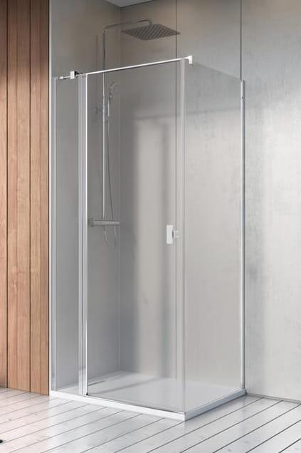 Kabina Radaway Nes KDJ II drzwi 80L x ścianka 100 szkło przejrzyste wys. 200 cm. 10032080-01-01L/10039100-01-01