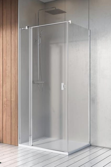 Kabina Radaway Nes KDJ II drzwi 90L x ścianka 90 szkło przejrzyste wys. 200 cm. 10032090-01-01L/10039090-01-01