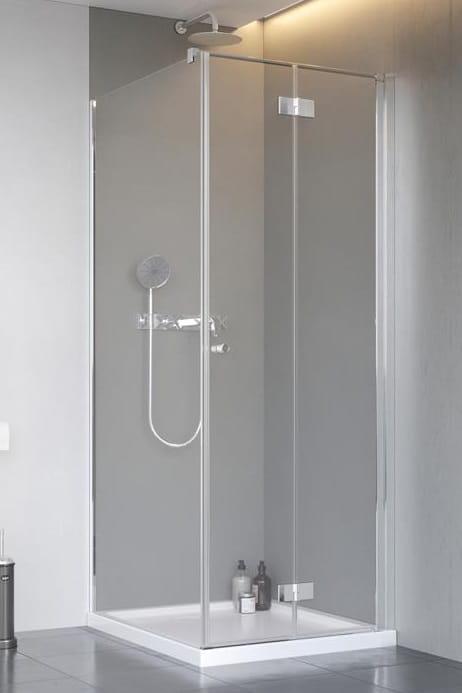 Kabina Radaway Nes KDJ B drzwi składane 80P x ścianka 90, szkło przejrzyste wys. 200 cm. 10025080-01-01R/10039090-01-01