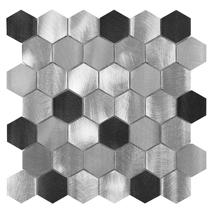 DUNIN mozaika metalowa Allumi Grey HEXAGON MIX 48