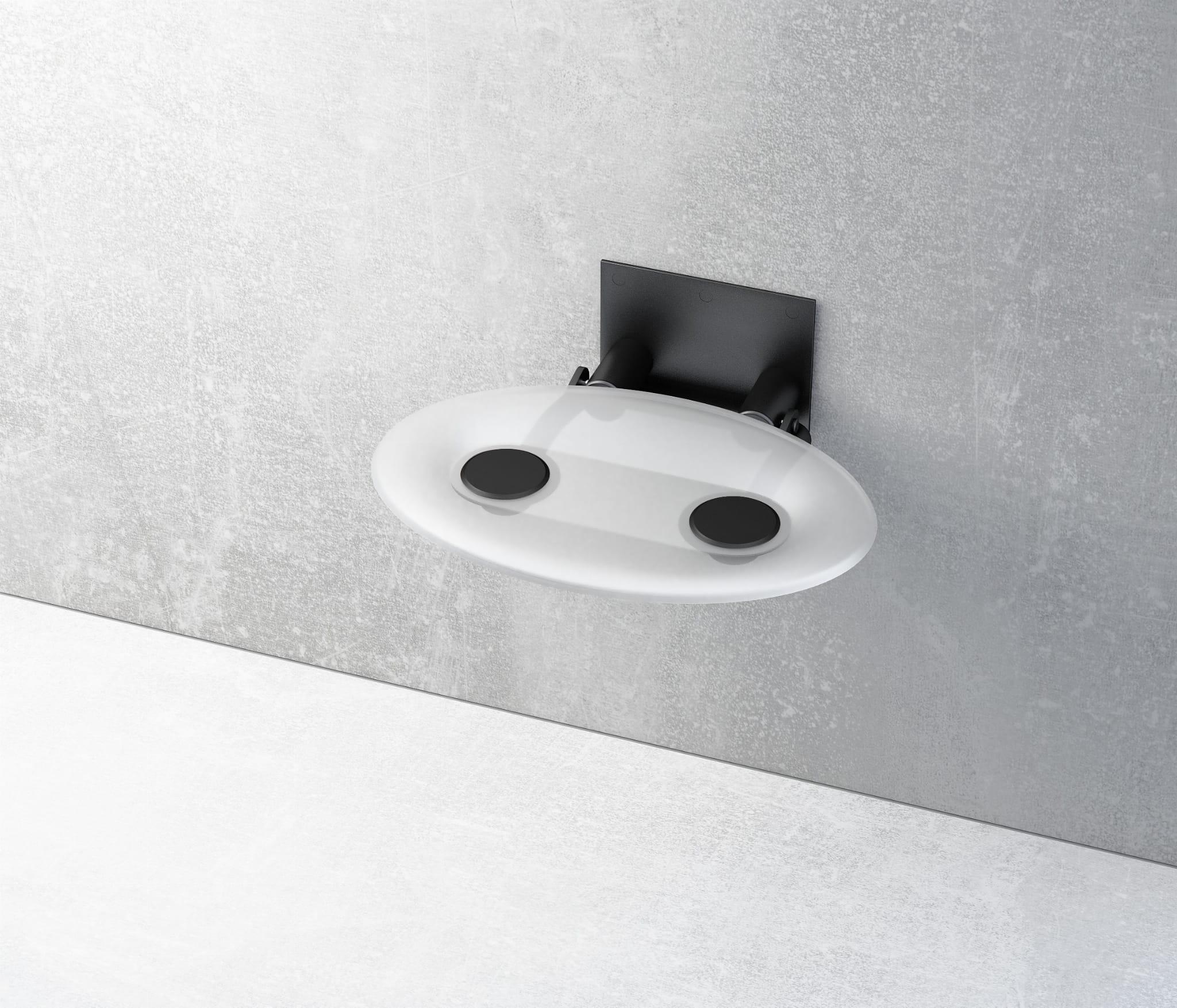 Ravak siedzisko prysznicowe Ovo P Clear/czarne  B8F0000042