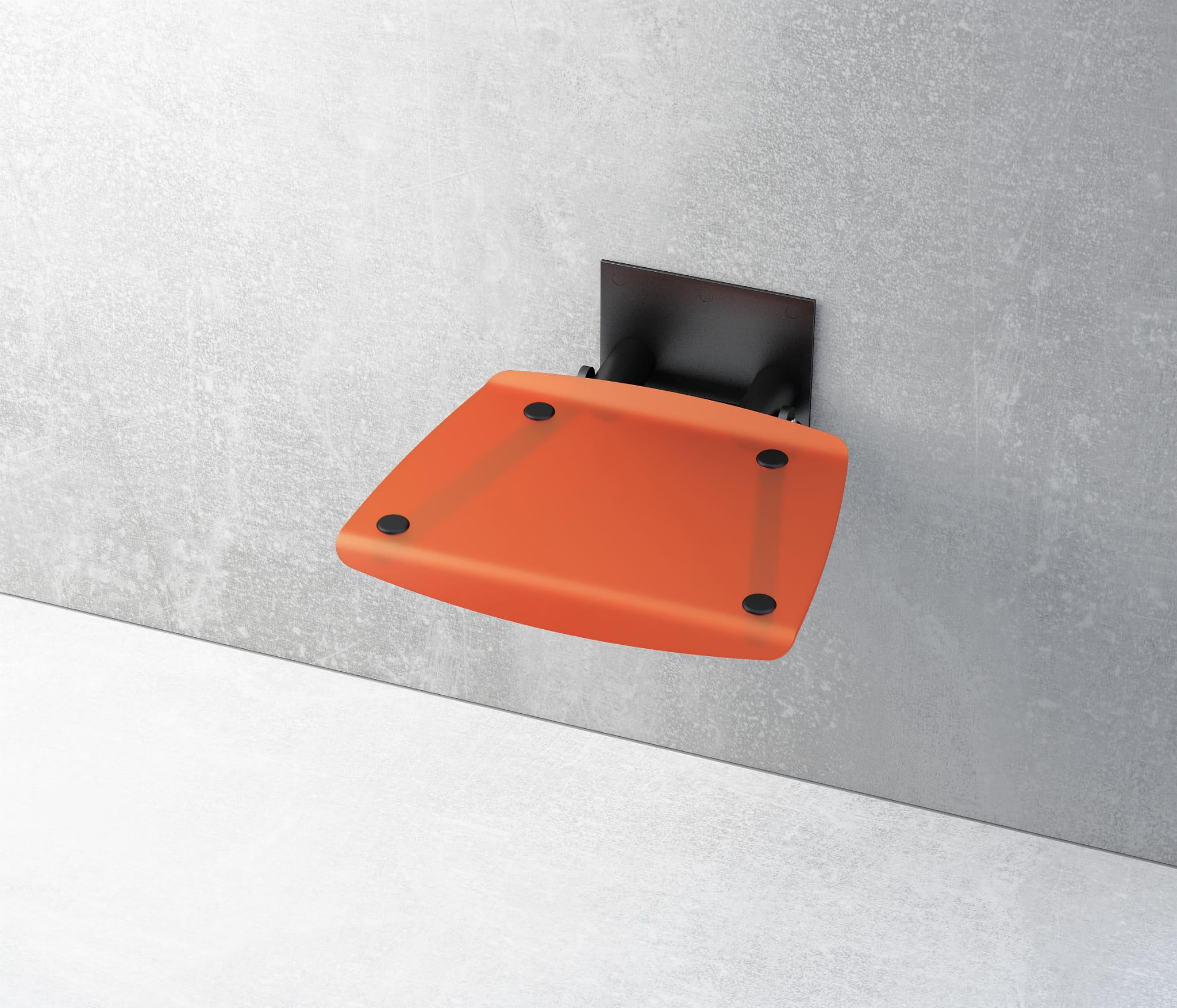 Ravak siedzisko prysznicowe Ovo B Orange/czarne  B8F0000047