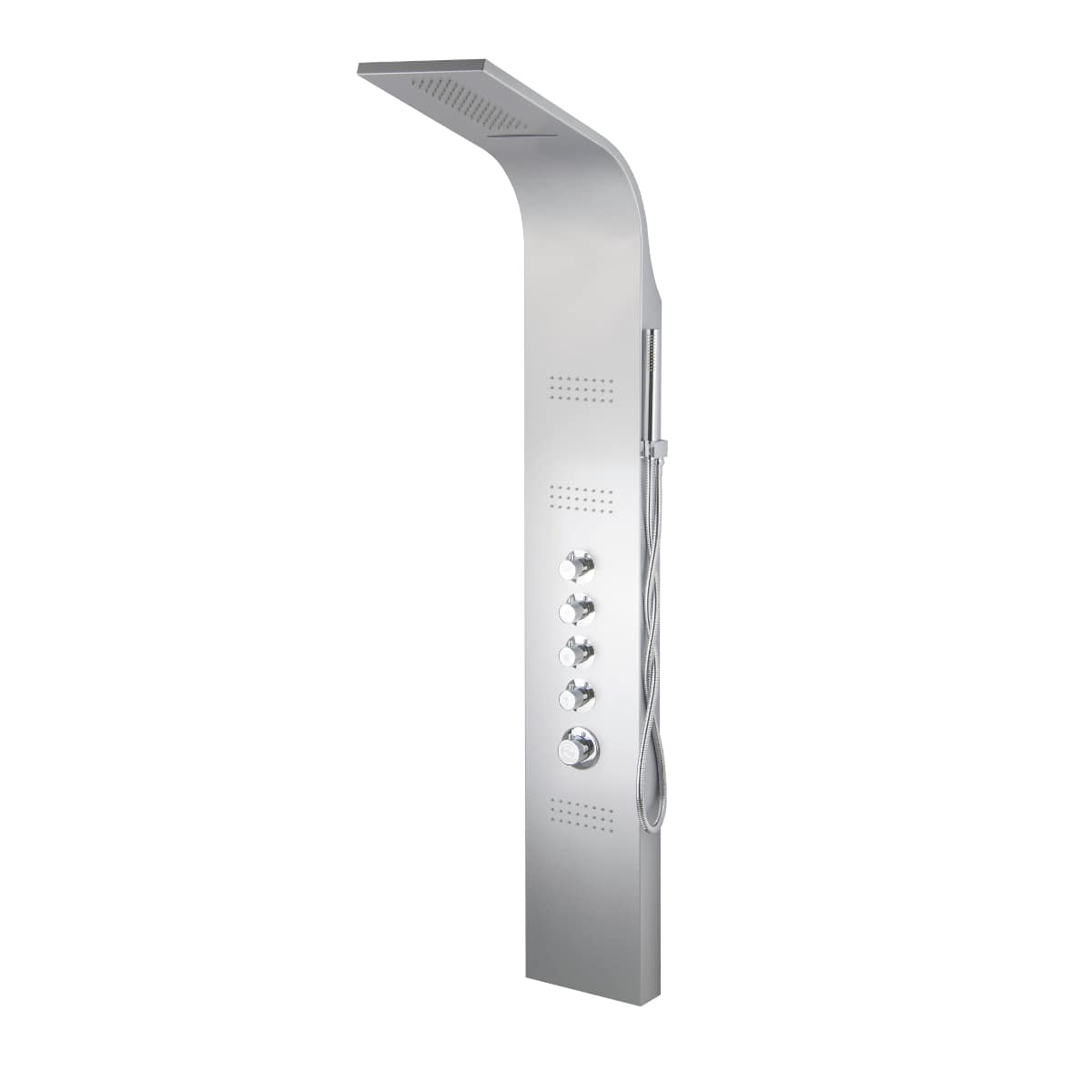 Corsan Akoja panel prysznicowy z termostatem gwiezdna szarość A-025 AKOJA T RAL9006