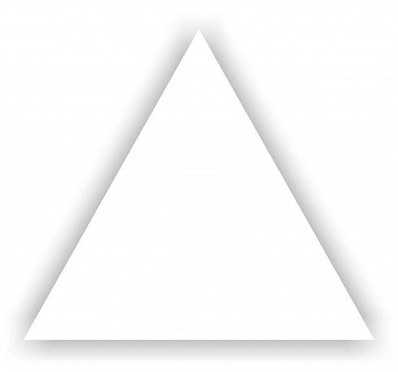 Dunin Mini panel ścienny 3D biały TR-White