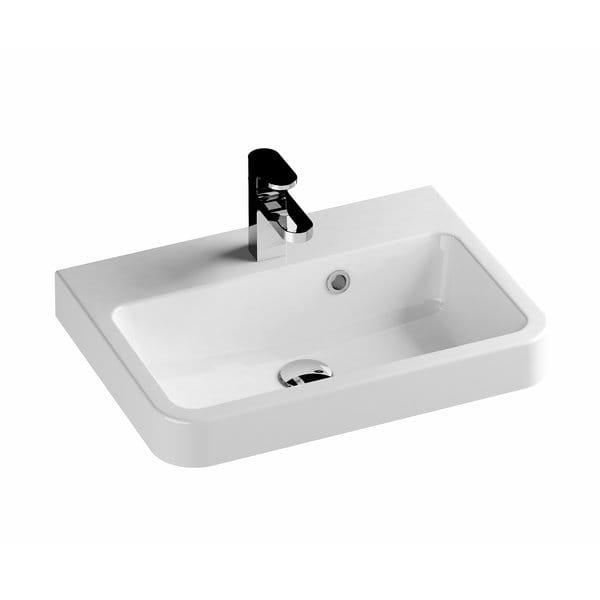 Ravak BeHappy II umywalka 550x400 biała XJA01155000