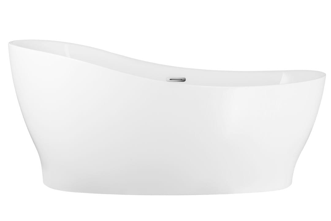 Corsan wanna wolnostojąca akrylowa DIVA 160 cm  E322 + syfon klik-klak/ biała