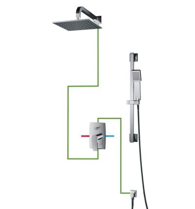 OMNIRES Kompletny system podtynkowy Murray SYS MU13 A