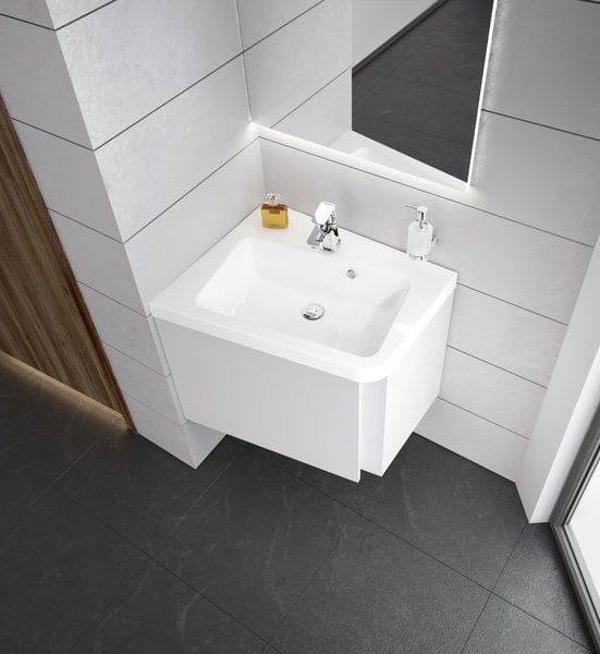 Ravak umywalka  10°(stopni)  650 biała z otworami,  lewa  XJIL1165000