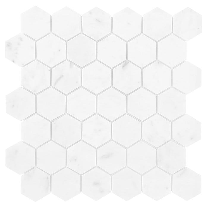 DUNIN Carrara mozaika kamienna CARRARA WHITE HEXAGON 48