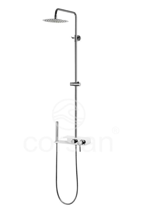 Corsan kolumna prysznicowa z mieszaczem natynkowa KLAR FIBER SLIM CMN005
