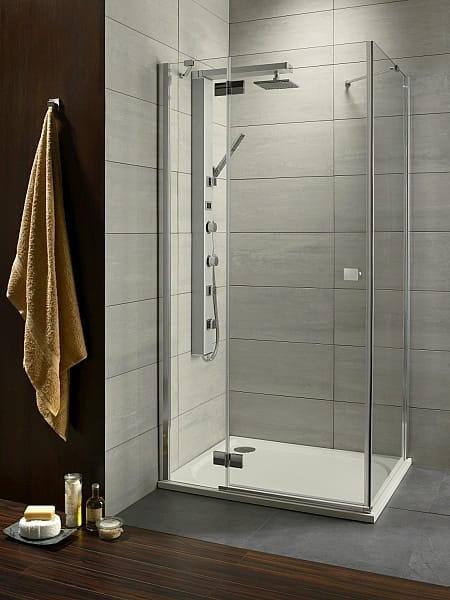 Kabina prysznicowa kwadratowa Radaway Almatea KDJ 90 lewax90 szkło przejrzyste wys. 195 cm. 32102-01-01NL