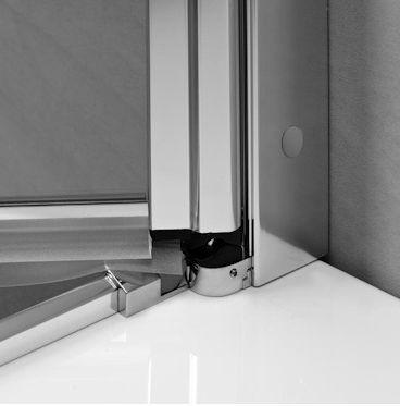 Kabina prysznicowa półokrągła Radaway EOS PDD 90 x 90 - zawiasy