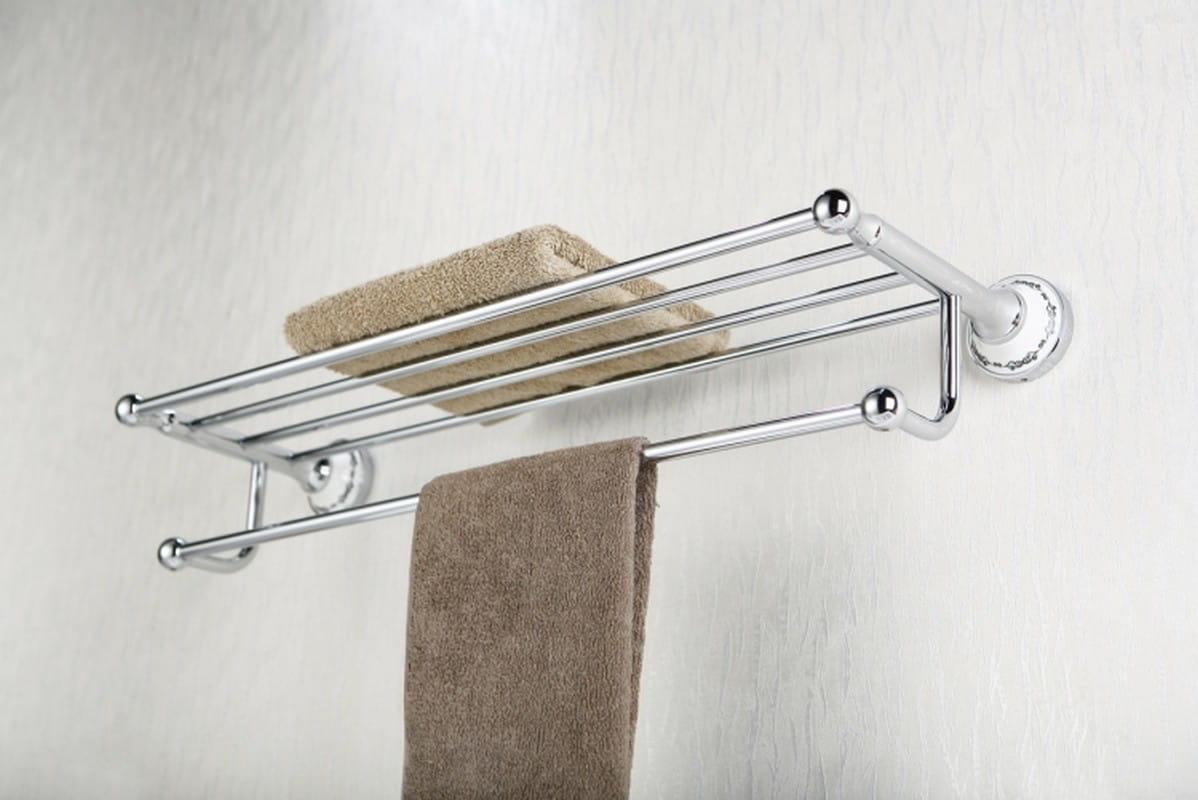 Art Platino Nikolas półka na ręczniki z relingiem chrom NIK-57010