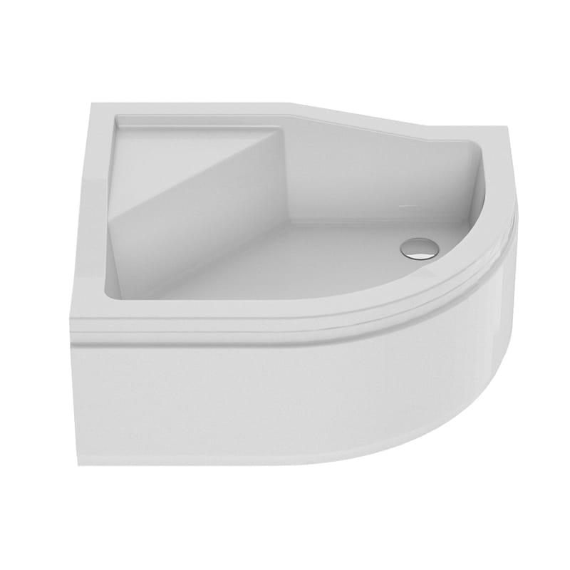New Trendy | Brodzik MAXIMA , lewy, podwyższone siedzisko 100 x 80 x 38,5cm   B-0367