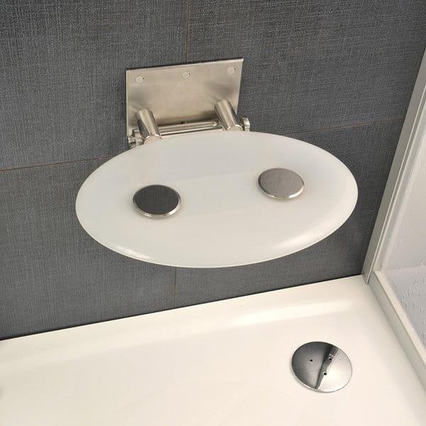 Ravak siedzisko prysznicowe Ovo P opal (mleczny) B8F0000001