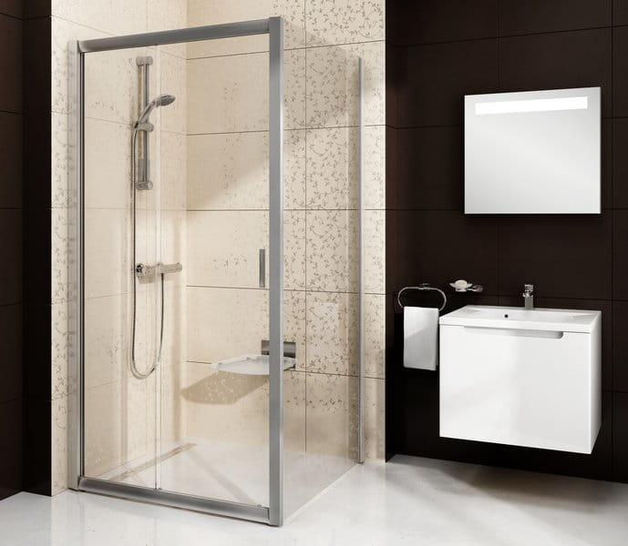 Ravak Blix ścianka stała jednoczęściowa BLPS-100, wys. 190 cm,  Polerowane aluminium +Transparent 9BHA0C00Z1