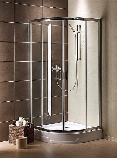 Kabina prysznicowa półokrągła Radaway Premium Plus A 90 szkło Fabric wys. 190 cm. 30403-01-06N