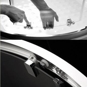 Kabina prysznicowa półokrągła Radaway Premium Plus A 90 cm - wypięcie drzwi
