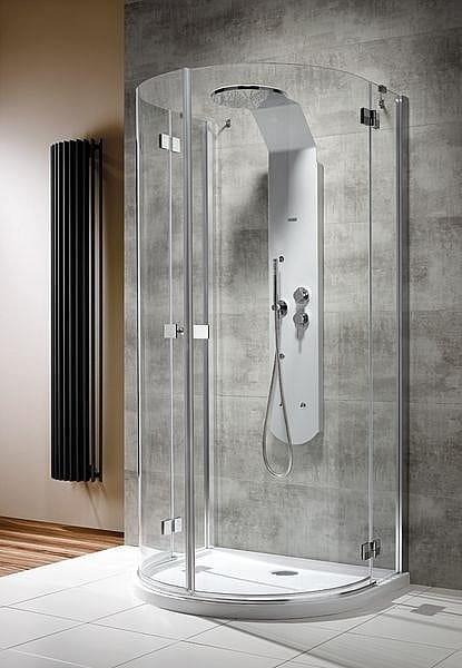 Kabina prysznicowa przyścienna półokrągła Radaway Almatea P 100x90 szkło Grafitowe, wys. 195 cm. 30722-01-05N
