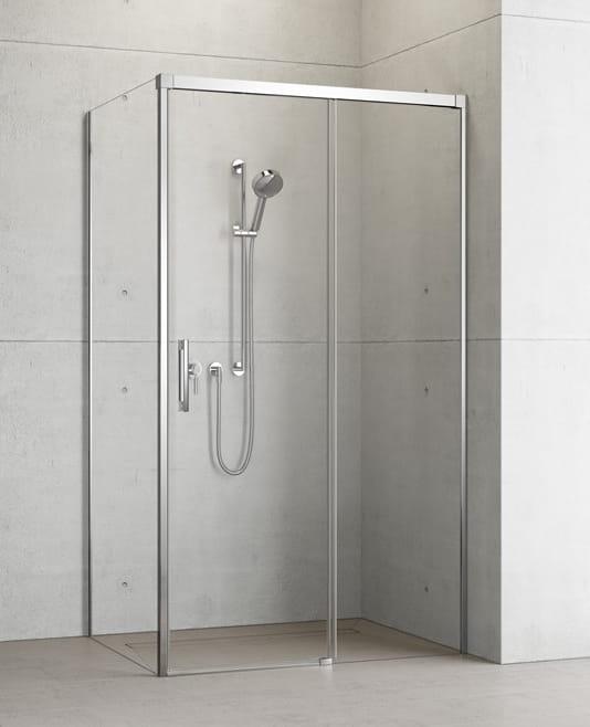 Kabina prysznicowa Radaway Idea KDJ drzwi 150 prawe x ścianka 90 lewa, szkło przejrzyste wys. 205 cm, 387045-01-01R/387050-01-01L