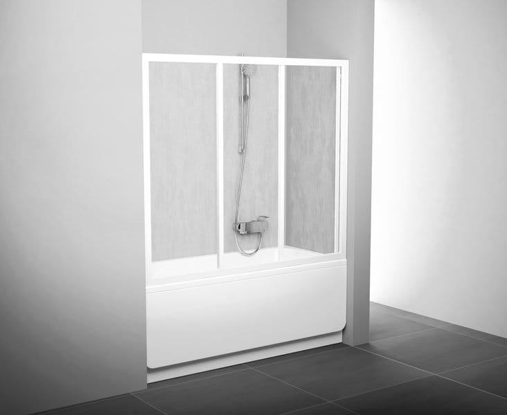 Ravak Drzwi nawannowe AVDP3 - 150 Białe + Transparent    40VP0102Z1
