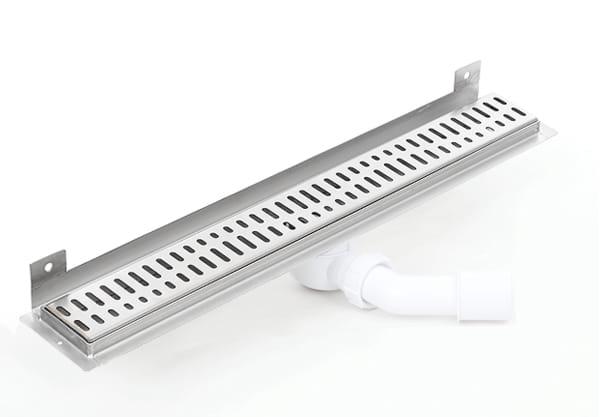 Kesmet Wall Silver Wave In odpływ ścienny 800KWF_p 800mm (syfon plastikowy)