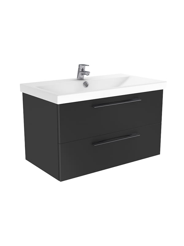 New Trendy Notti szafka wisząca + umywalka antracyt połysk 60 cm ML-9160/U-0082