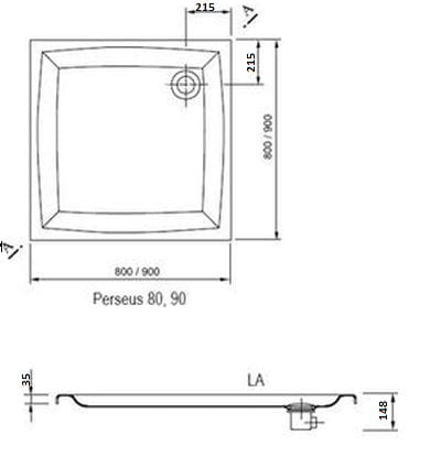Ravak brodzik prysznicowy Perseus  100 LA  A02AA01210