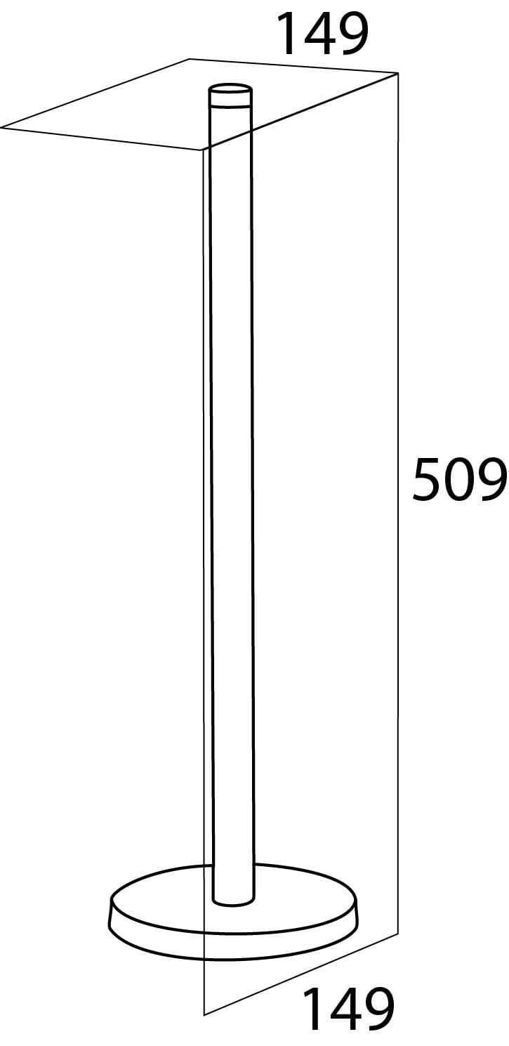 Tiger Boston stojak na papier toaletowy stal szczotkowana 4465.09