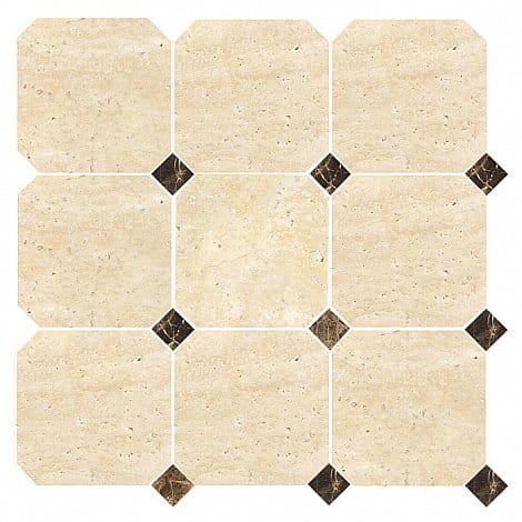 DUNIN  mozaika kamienna Travertine Octagon 100