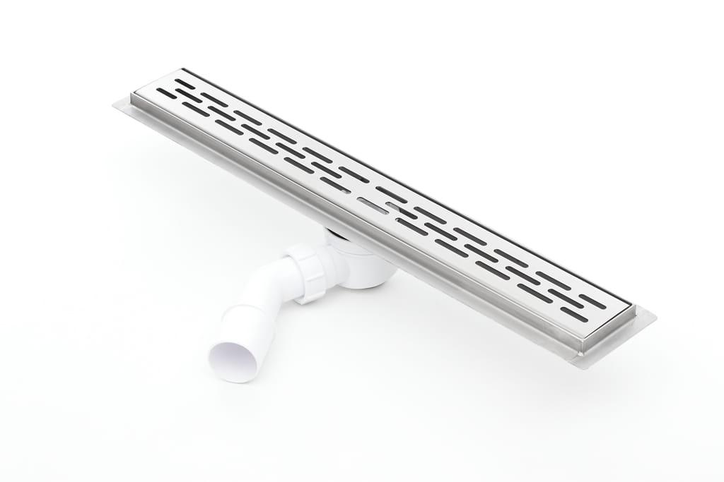 Odpływ liniowy Kesmet Silver Stripes  800KF_p 80 cm (syfon plastik)