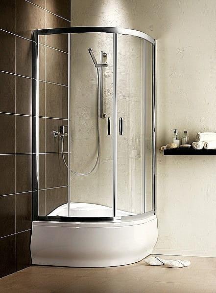 Kabina prysznicowa półokrągła Radaway Premium Plus A 80 szkło przejrzyste wys. 170 cm. 30411-01-01N