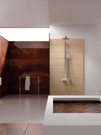 Art Platino Emira zestaw prysznicowo-wannowy chrom/biały EMI-ZKPN.400BC
