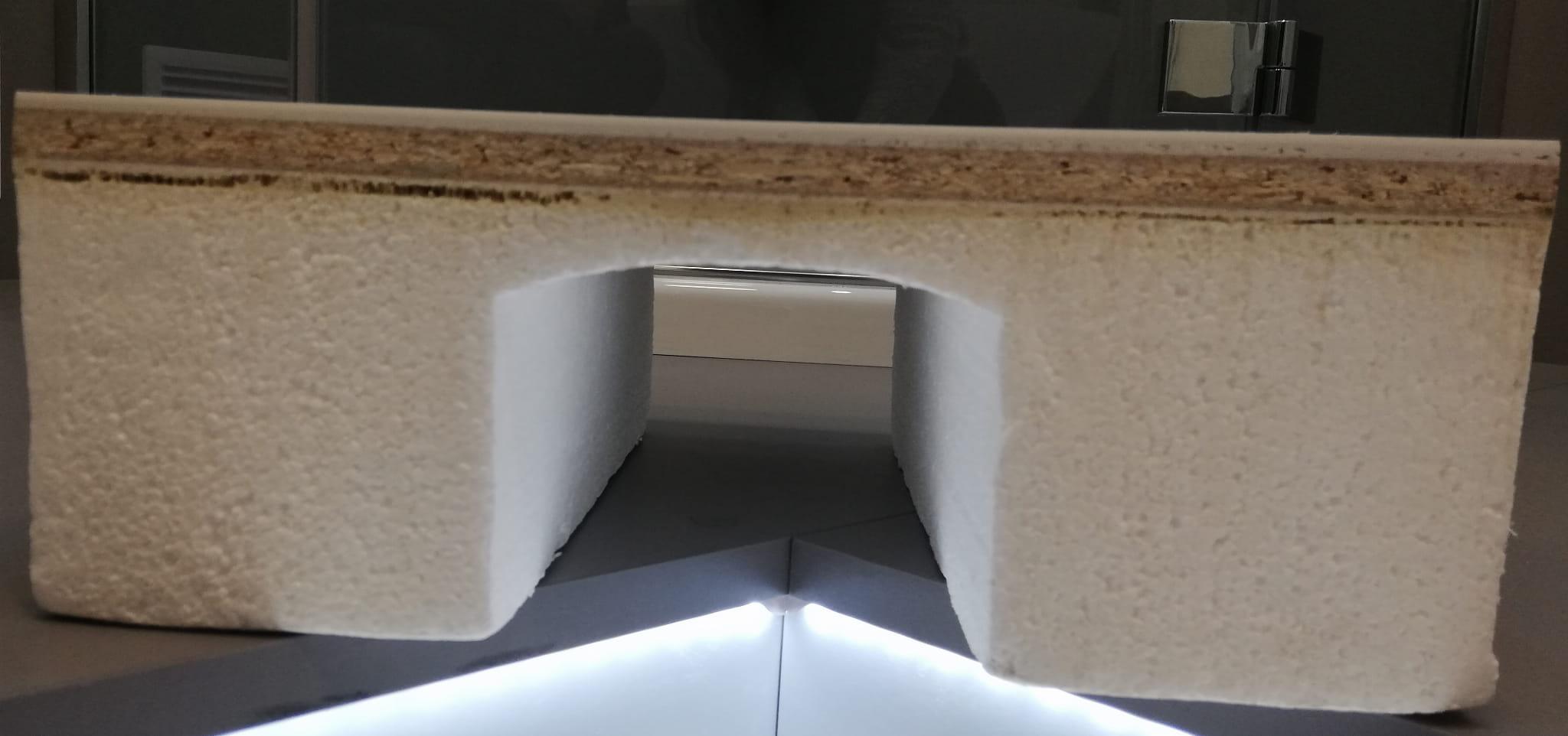 RADAWAY brodzik akrylowy na podstawie styropianowej Naxos A 80 do obudowania płytkami  SBA8841-1