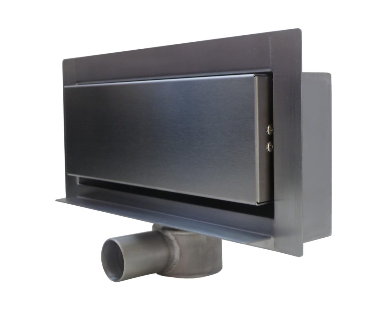 Kesmet Modern odwodnienie ścienne 30 cm metalowy syfon 300KGF_m