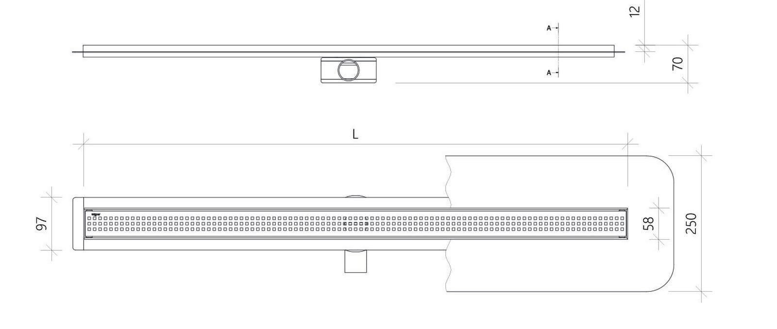 Odpływ liniowy Wiper Slim Sirocco Premium 120 cm  WPS1200SI